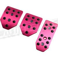 New Cars girly funky pink Sport Style pedal set.