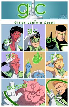 Green Lantern Corps - Glee
