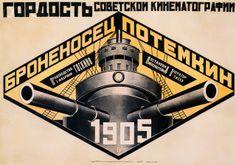 O Couraçado Potemkine. Cartazes para o filme de Einsenstein - 1926 Rodchenko