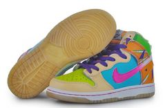 Cheap Kid's Nike Dunk High Shoes Cream/Sky Blue/Orange/Pink/Atomic Green For Sale from official Nike Shop. Jordan Shoes For Kids, Michael Jordan Shoes, Air Jordan Shoes, Nike Shoes Online, Discount Nike Shoes, New Jordans Shoes, Kids Jordans, Yellow And Brown, Blue Orange