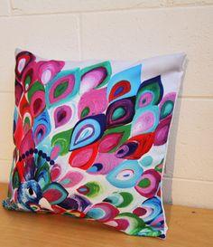 Peacock cushion http://designyourowncushions.com/