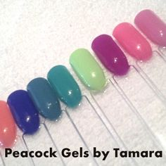 Gelish Summer Collection 2014 Gel Manicure  @ Peacock Gels