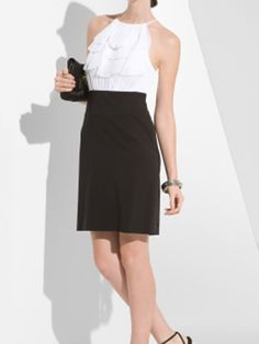 BCBG Maxazaria Ruffle Front Cocktail Dress - Forever 21 Ruffle Ruched Colorblock Dress - Cosmopolitan