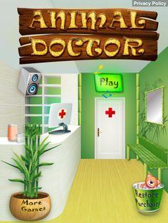 Animal Doctor App by Ninjafish Studios. Kids game apps.