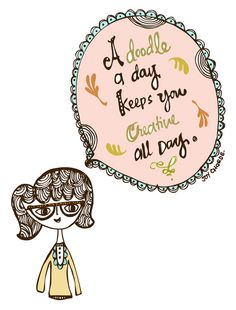 Establishing a daily creative routine (plus a free printable) Cute Quotes, Words Quotes, Sayings, Doodle Art Journals, Tangle Art, Doodles Zentangles, Pattern Art, Inspire Me, Illustration