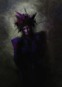 The Dark Character, digital illustration, by Maria Janczak  ( www.facebook.com/maria.janczak.artist )