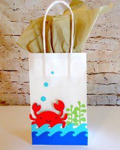 Under The Sea Party Decorations Under the Sea Favor Bags Under The Sea Theme, Under The Sea Party, Baby First Birthday, Boy Birthday Parties, Birthday Ideas, Party Favor Bags, Goody Bags, Favor Boxes, Birthday Design