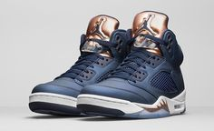 """Air Jordan 5 Retro """"Bronze"""" #jordan      Photos: Nike With the Olympic Games now in the rearview Jordanwill release this week the Air Jordan 5 Retro """"Bronze"""", a follow up to the August editionfeaturing a gold tongue."""
