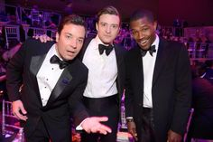 Pin for Later: 16 Times Jimmy Fallon and Justin Timberlake's Quirky Friendship Brightened Your Day When They Let Frank Ocean Into Their Group at the TIME 100 Gala