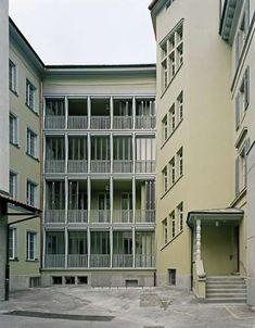 Kilga Popp Architekten, Umnutzung Flössergasse 15, Zürich, 2008 Winterthur, London House, 3d Visualization, Built Environment, Minimalist Art, Facade, Multi Story Building, Villa, Construction
