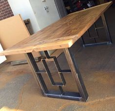 Square-Rectangular Modern Dining Table Legs Industrial Legs