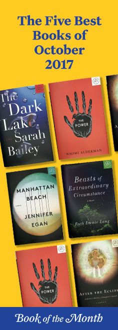 The five best books of October 2017. Head to bookofthemonth.com and get your first book for $9.99.