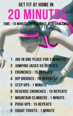 Get fit at home in 20 minutes. #ab_workouts
