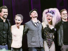 Lena Hall is joined by her Hedwigs (Andrew Rannells,  John Cameron Mitchell, Neil Patrick Harris & Michael C. Hall) during her final curtain call