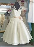 Buy discount Stunning Lace V-neck Neckline Tea-length A-line Wedding Dresses at Dressilyme.com