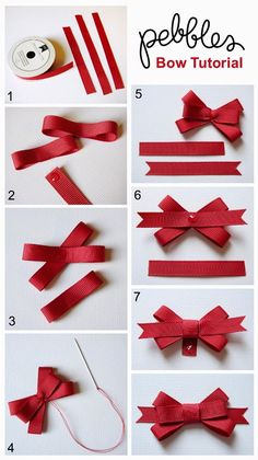 "Ways To Make Fancy Bows ""Back To School Cards with Bow Tutorial - Pebbles, Inc."", ""Bow Tutorial by Mendi Yoshikawa Yoshikawa"", ""Best bow tutorials - Diy Ribbon, Ribbon Crafts, Ribbon Bows, Paper Crafts, Ribbons, Ribbon Flower, Candy Crafts, Hair Bow Tutorial, Flower Tutorial"