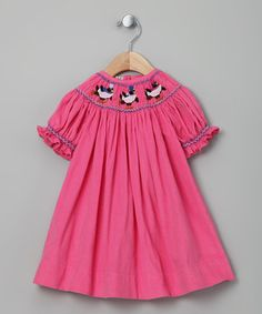 Look what I found on #zulily! Pink Penguin Corduroy Bishop Dress - Infant & Toddler by Classy Couture #zulilyfinds