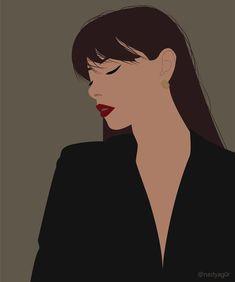 Illustration Vector, Woman Illustration, Portrait Illustration, Digital Portrait, Aesthetic Art, Cartoon Art, Cute Art, Art Girl, Fashion Art