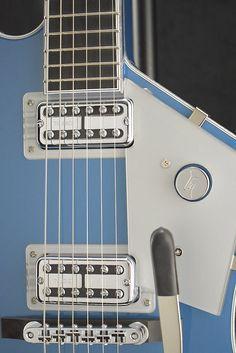 Gretsch Billy-Bo Jupitor Thunderbird Lake Placid Blue (Built for Fuller's only) Billy F Gibbons, Lake Placid Blue, Fender American, Gretsch, Guitars, Instruments, Guitar