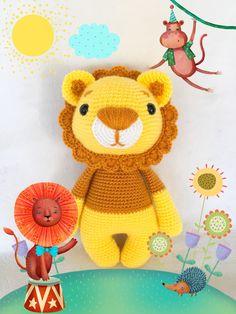 Leo the Lion - amigurumi toy - crochet doll - lion king - Amalou Designs https://www.etsy.com/listing/587872873/leo-the-lion-amigurumi-toy-chrochet-doll