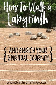 Want a deeper journey with God? Want to hear His voice more clearly? Try walking a labyrinth for prayer. Use movement and meditation to walk closer to God. Labyrinth Design, Labyrinth Walk, Labyrinth Garden, Walking Meditation, Meditation Garden, Daily Meditation, Meditation Meaning, Meditation Benefits, Meditation Music
