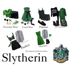 Slytherin Inspired Outfits So me Mode Harry Potter, Harry Potter Makeup, Harry Potter Style, Harry Potter Houses, Harry Potter Outfits, Hogwarts Houses, Slytherin Clothes, Hogwarts Uniform, Slytherin House