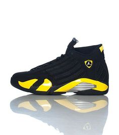 800332bd9f28f0 JORDAN Mid top men s sneaker Lace up closure Suede throughout Yellow  accents Tongue with JORDAN lett.