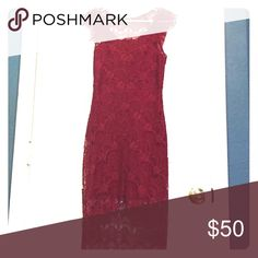 Free People lace peekaboo dress Great condition. Free People Dresses Midi