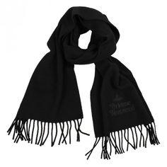 Vivienne Westwood Classic Orb Scarf - Black   Sold At GarmentQuarter