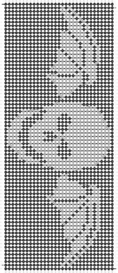 Alpha friendship bracelet pattern added by avenged sevenfold band rock skull bat wings. Alpha Patterns, Loom Patterns, Beading Patterns, Cross Stitching, Cross Stitch Embroidery, Cross Stitch Patterns, Friendship Bracelet Patterns, Friendship Bracelets, Cross Stitch Tattoo