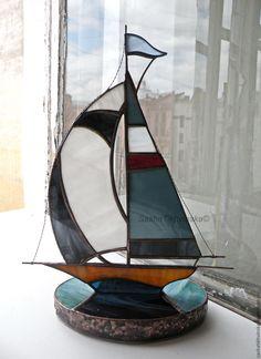 """Статуэтки ручной работы. Регата . Яхты """"Мальта"""". SashaTikhvinska. Интернет-магазин Ярмарка Мастеров. Море, яхта, моряку, медная фольга"""
