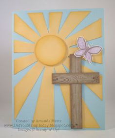 Did You Stamp Today?: Easter Sunrise - Stampin' Up! Sunburst Thinlet