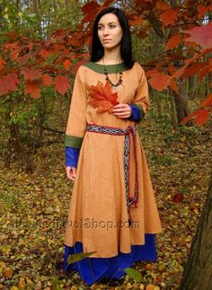 Early Medieval Dress made of wool,Viking Dress, T-tunic    SlavMedievalShop - Clothing on ArtFire