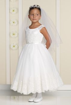 Joan Calabrese 19328 Communion Dresses - Joan Calabrese Communion by Zone4Kids Clothing, Inc.