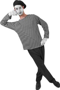 Adult Men's Mime Halloween Costume Real Reviews