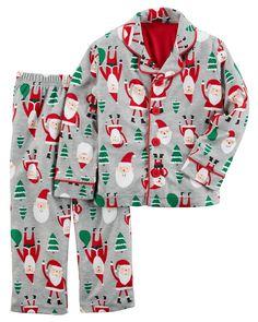 Kid Boy 2-Piece Fleece Christmas PJs   Carters.com