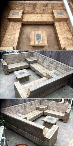 repurposed wooden pallet outdoor couch #palletcouchesdiy