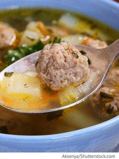 Frikadellensuppe Sup s frikadelkami - Суп с фрикадельками - Russische Rezepte