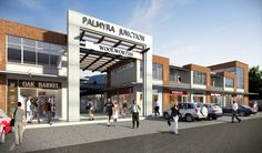 contemporary shopping center | Artist's impression of Palmyra Junction, the new shopping center ...