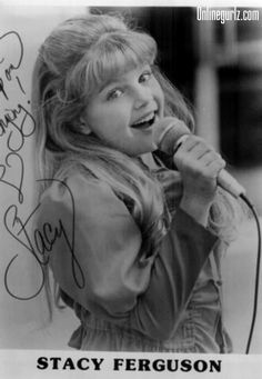 Stacy Ferguson aka Fergie from the KIDS INCORPORATED days of the mid to late 80's. She was my favorite, probably b/c her hair was blonde like mine was. :)
