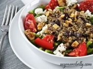 Healthy recipe for Vegetarian Mediterranean Pasta - even meat-eaters will love this!