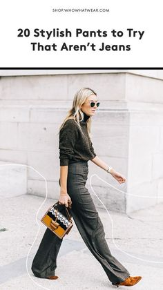 Don't fall into a denim rut. These pants deserve a place in your wardrobe, too. (via Who What Wear)