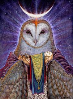 Homecoming - Barn Owl Celtic Shaman Art Print 11x17. $25.00, via Etsy.