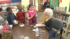 Kate DiCamillo told her story to 3rd and 4th-graders at Longwood Elementary, just outside of Chicago, to give them an early lesson in perseverance.