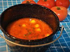 Supa de rosii cu galuste de malai – Culoare si Arome Food And Drink, Cheese, Homemade, Ethnic Recipes, Yum Yum, Mariana, Diet, Fine Dining, Essen