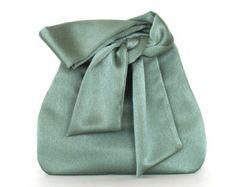 Bridesmaid gift Emerald green evening bag Satin by Sisoibags