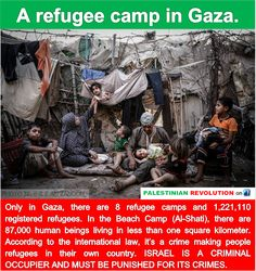 Learn about #Israel, the #Apartheid State 62: Refugee camps of Gaza