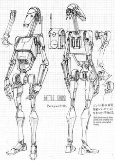 Amazing Star Wars droid profile.