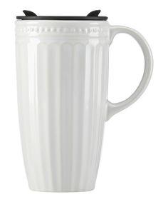 White French Perle Travel Mug by Lenox #zulily #zulilyfinds