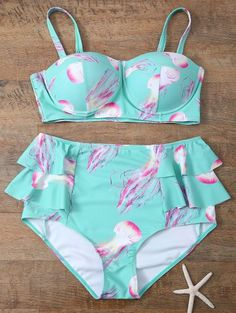 SHARE & Get it FREE | Push Up Printed Flounced Bikini SetFor Fashion Lovers only:80,000+ Items • New Arrivals Daily Join Zaful: Get YOUR $50 NOW!